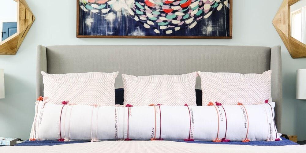 Long DIY bolster pillow