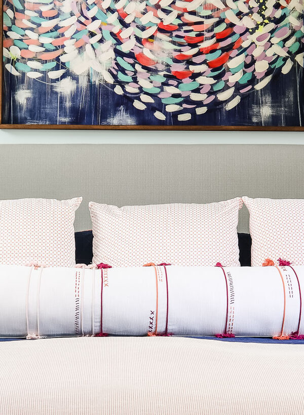 Make a Long DIY Bolster Pillow (the EASY way!)