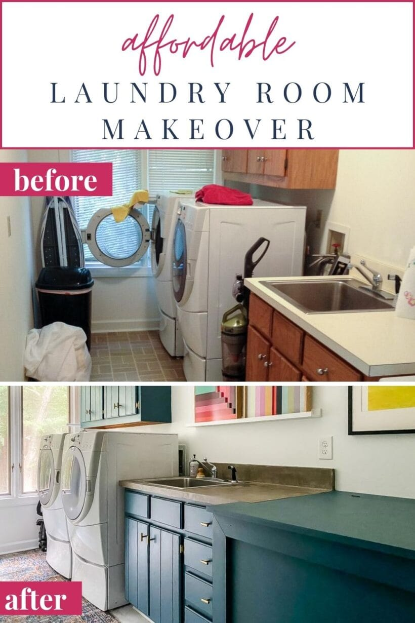affordable laundry room makeover