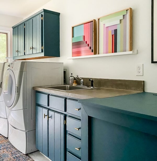 Colorful Laundry Room Makeover Reveal