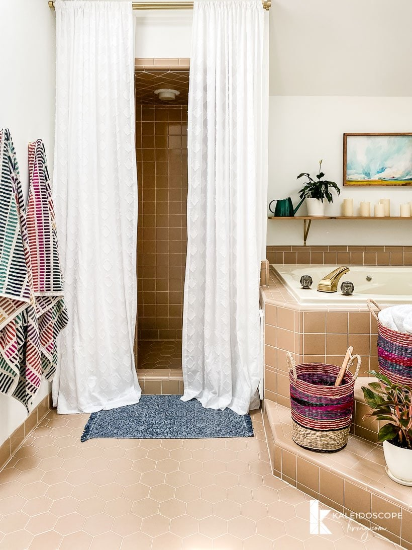 affordable master bathroom makeover reveal