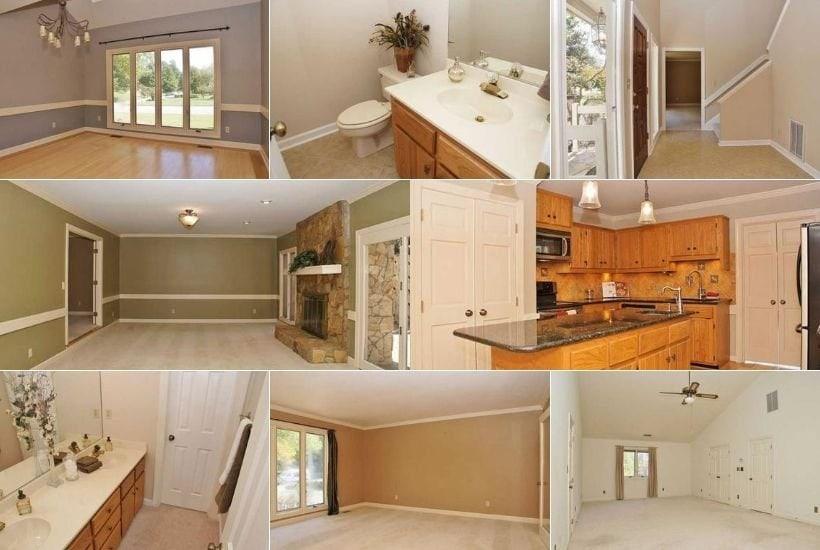 realtor photos of boring brown house