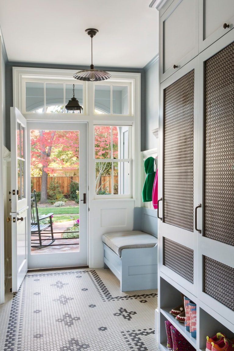 family mudroom and drop zone