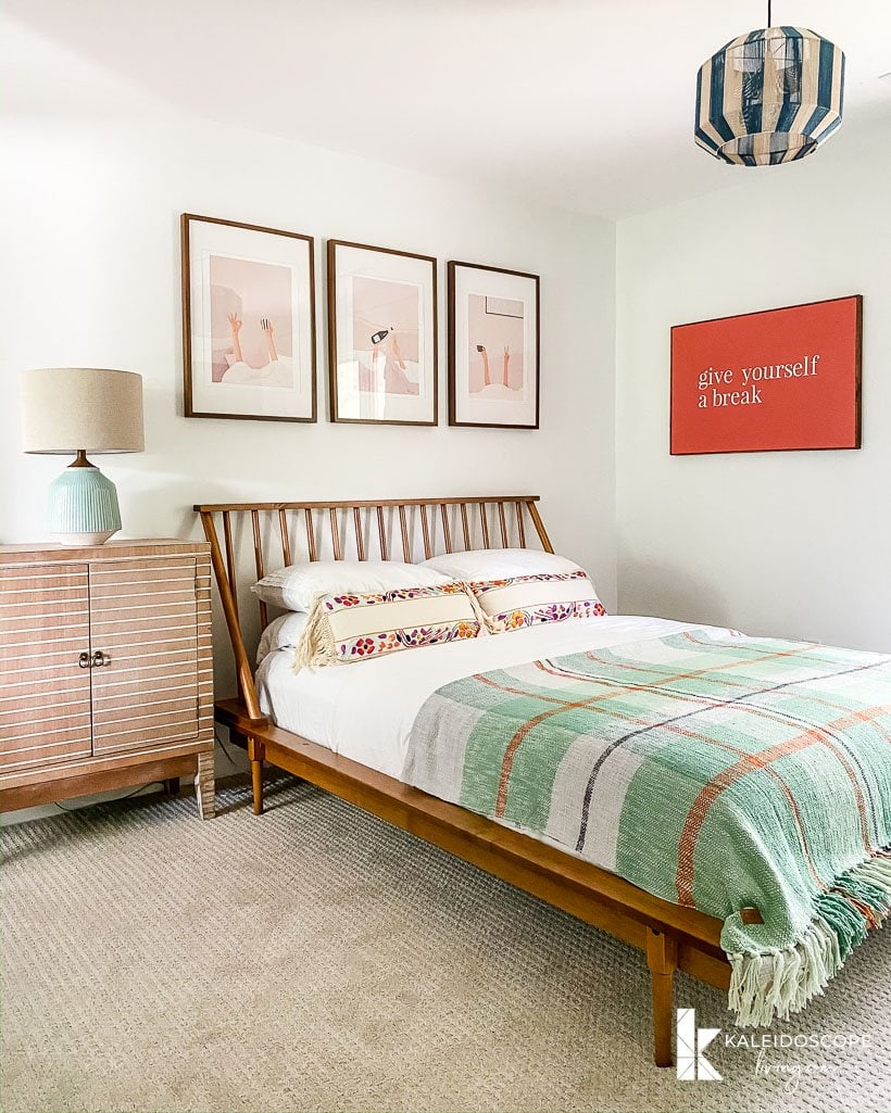 modern and colorful guest room