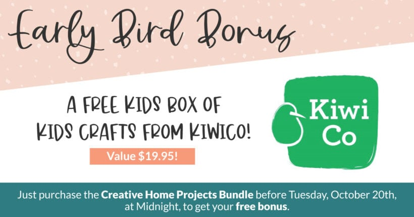 The Creative Home Projects Bundle early-bird bonus