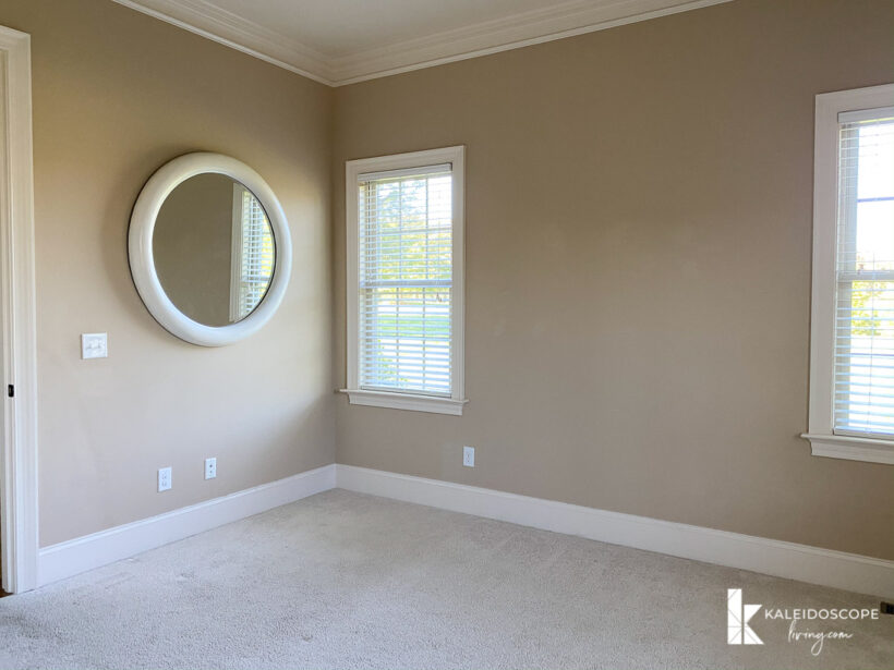 plain undecorated guest room