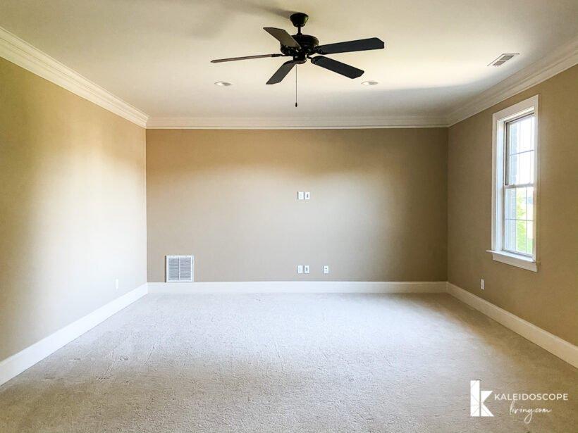 empty beige room