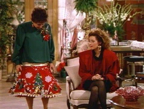 Bernice in Christmas tree skirt