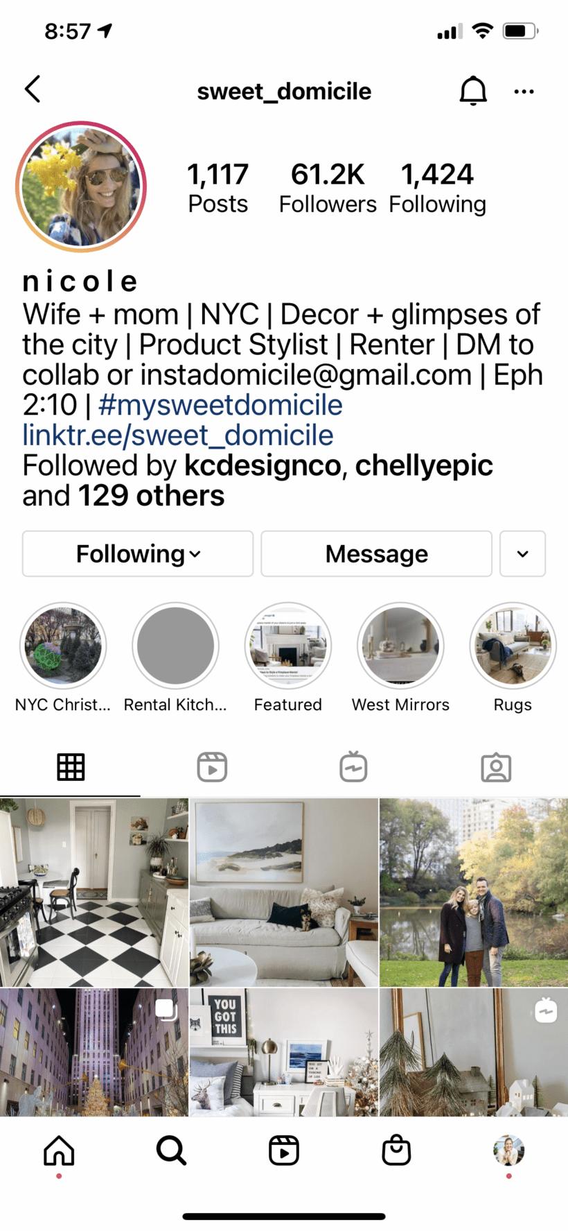 Sweet Domicile Instagram Profile