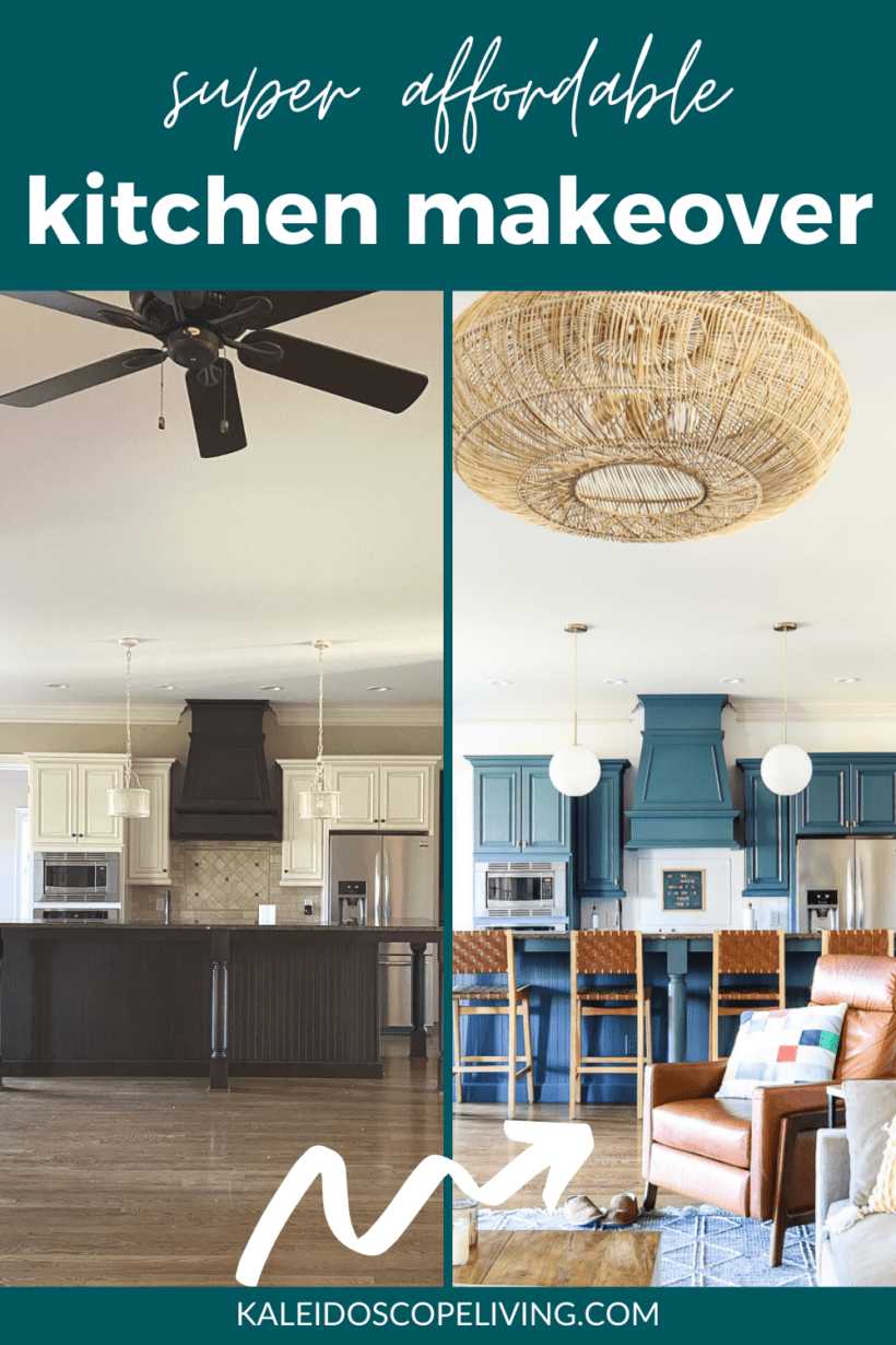 affordable kitchen makeover before and after