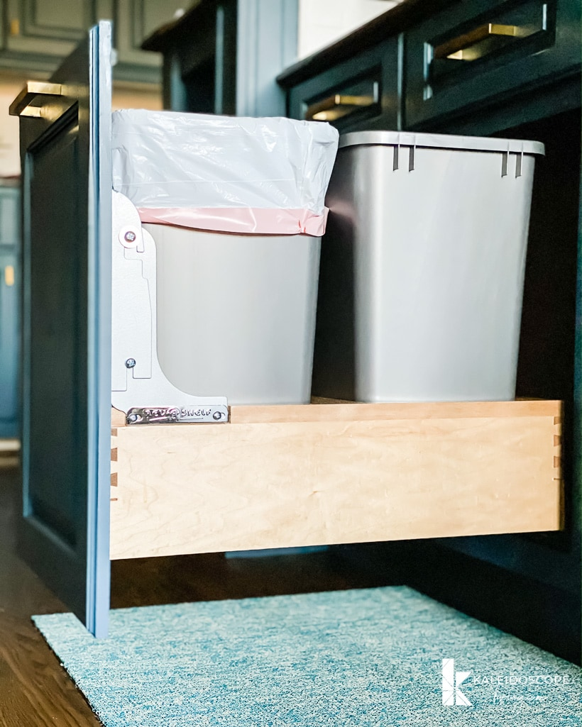 Rev-a-shelf trash can pull out with rev-a-motion