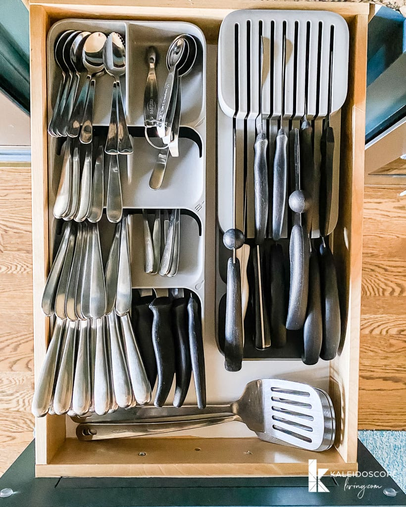 space saving utensil storage