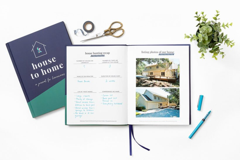 homeowner's journal to document memories and house changes