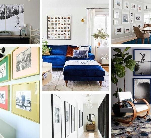 Stylish Family Photo Wall Display Ideas