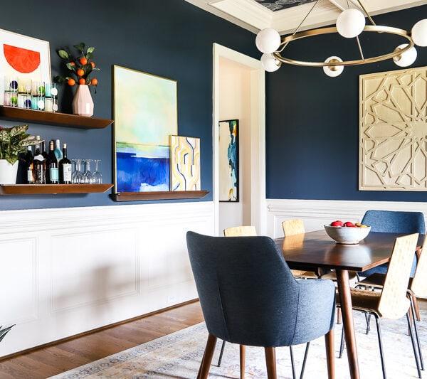 Navy Blue Dining Room REVEAL!