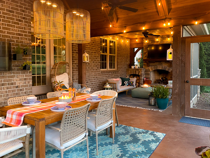 screened-in-porch evening