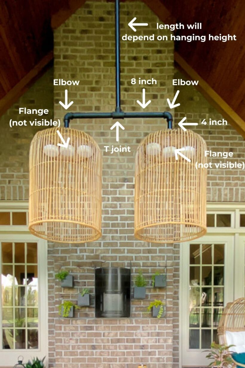DIY outdoor chandelier diagram