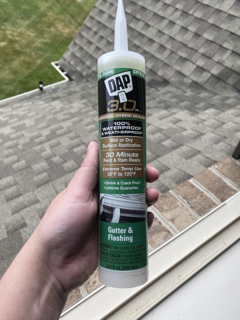 DAP 3.0 gutter and flashing sealant