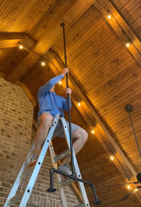 hanging outdoor chandelier