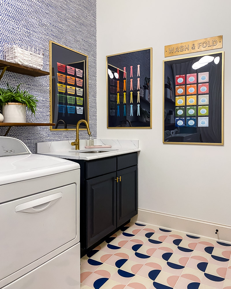 colorful laundry room graphic art
