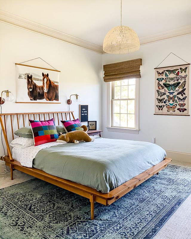 colorful modern girl's bedroom