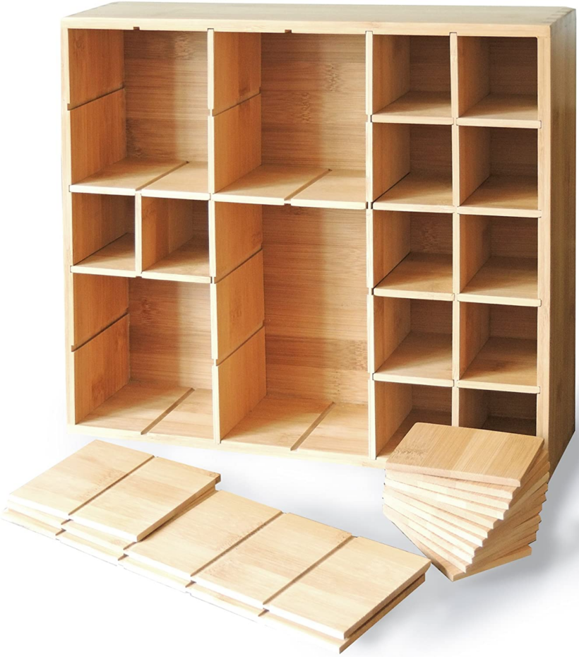 small wooden cubby storage